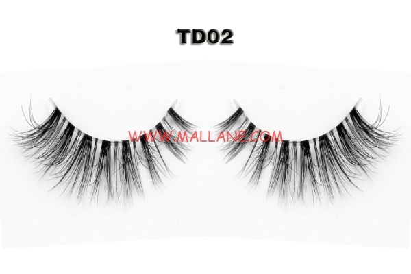 3D Clear Band Mink Strip Lashes TD02