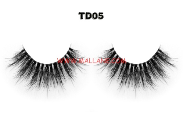 3D Clear Band Mink Strip Lashes TD05