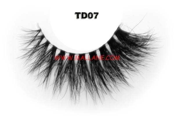 3D Clear Band Mink Strip Lashes TD07
