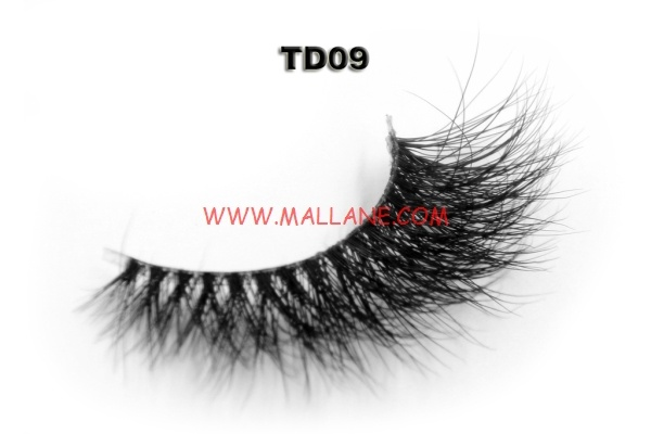 3D Clear Band Mink Strip Lashes TD09