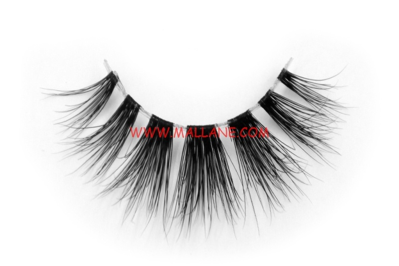 3D Clear Band Mink Strip Lashes SC11