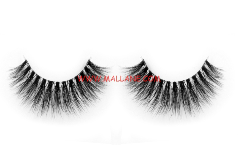 3D Clear Band Mink Strip Lashes SC12