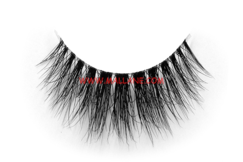 3D Clear Band Mink Strip Lashes SC22