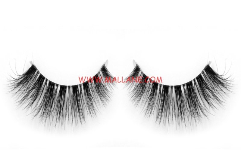 3D Clear Band Mink Strip Lashes SC23