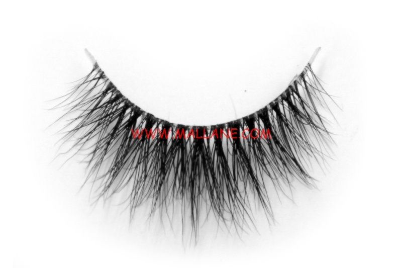 3D Clear Band Mink Strip Lashes SC26