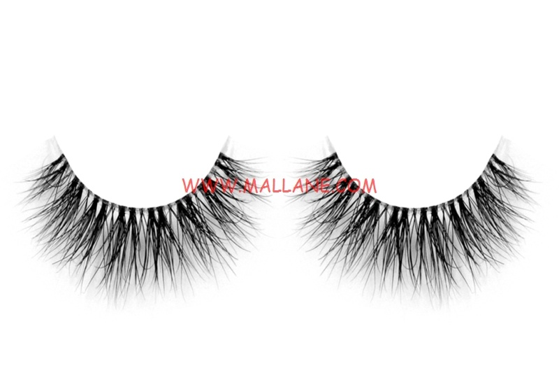3D Clear Band Mink Strip Lashes SC38