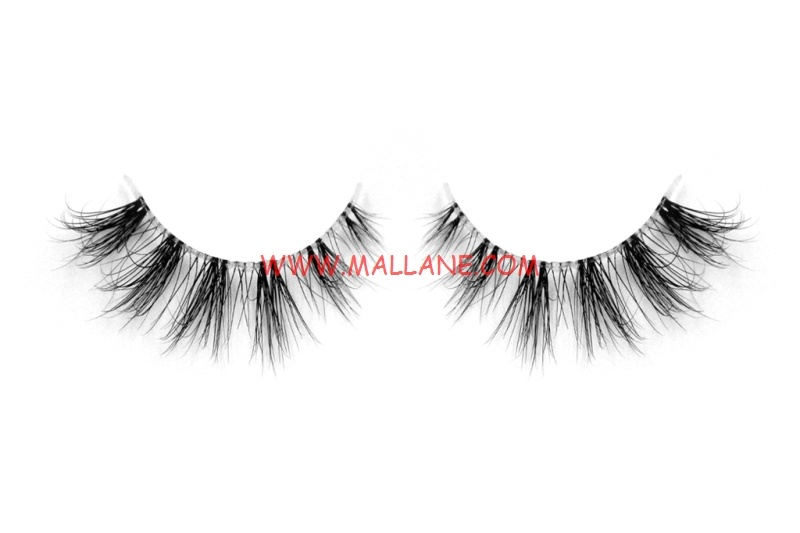 3D Clear Band Mink Strip Lashes SC42