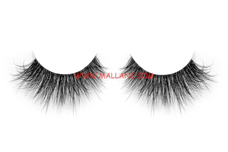 3D Clear Band Mink Strip Lashes SC45