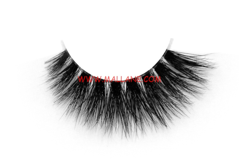 3D Clear Band Mink Strip Lashes SC48