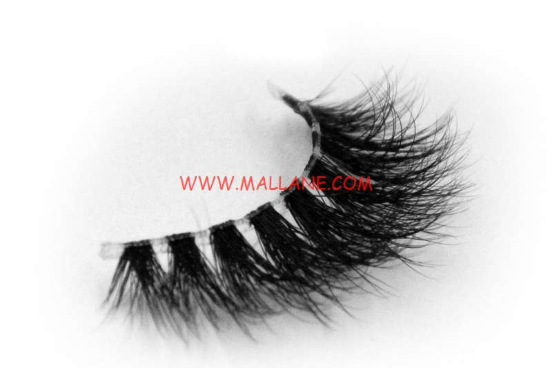 3D Clear Band Mink Strip Lashes SC49