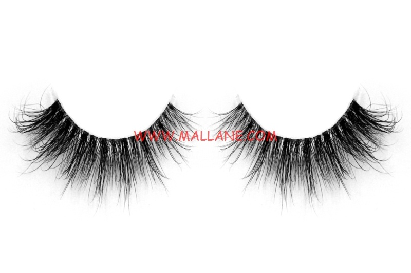3D Clear Band Mink Strip Lashes SC54