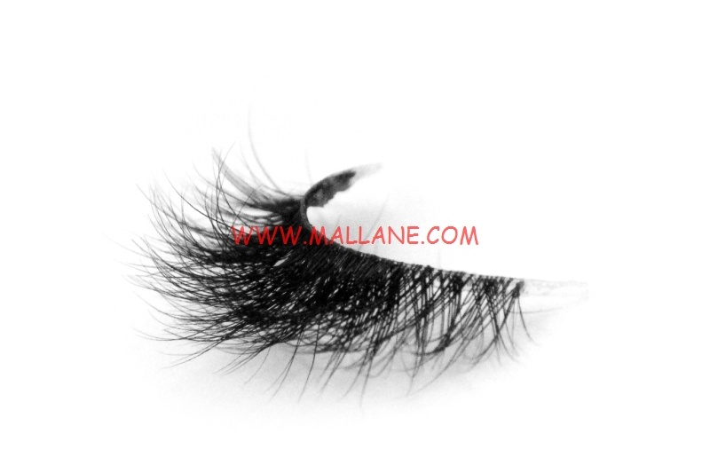3D Clear Band Mink Strip Lashes SC61
