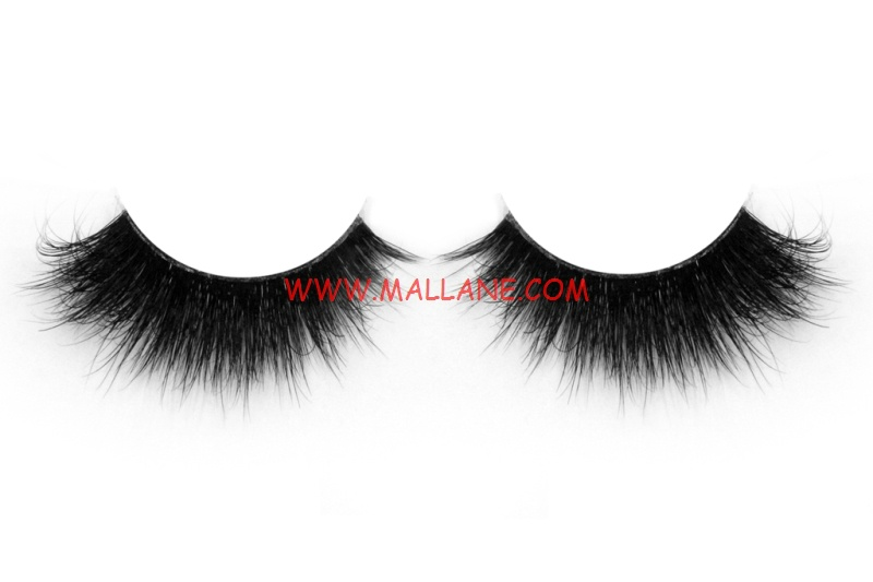 3D Clear Band Mink Strip Lashes SC68