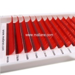 Silk Lash Extensions Red Color Factory Wholesale