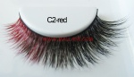 Colored Mink Strip Lashes C2-red