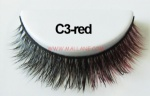 Colored Mink Strip Lashes C3-red
